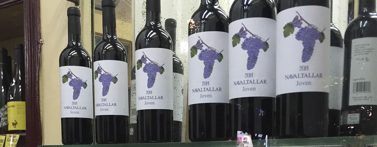 Etiquetas de vino diseñadas para Navaltallar