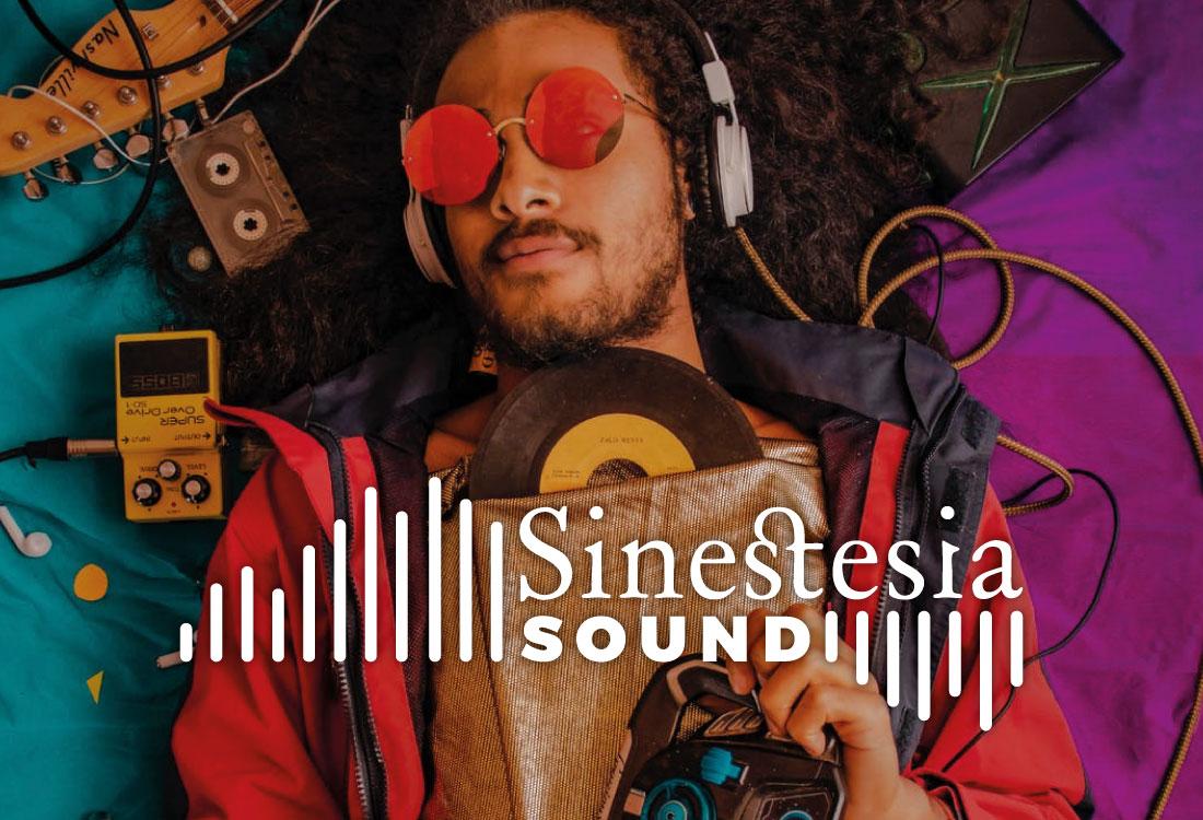 LOGOTIPO SINESTESIA SOUND BY TRES RAYAS