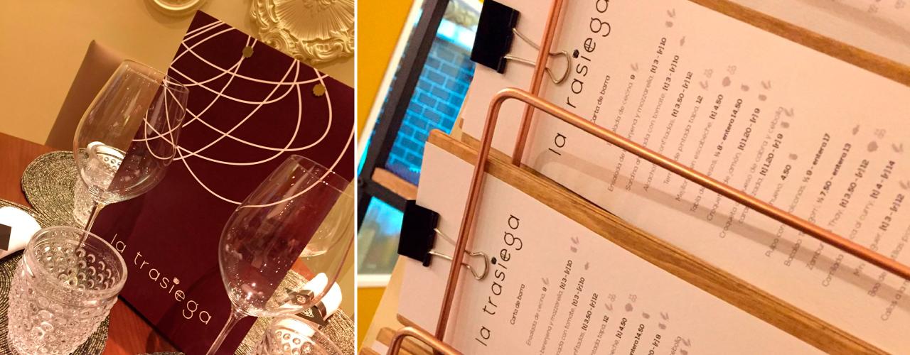 Cartas de Sala y Barra para la Trasiega restaurante en Getafe | Tres Rayas