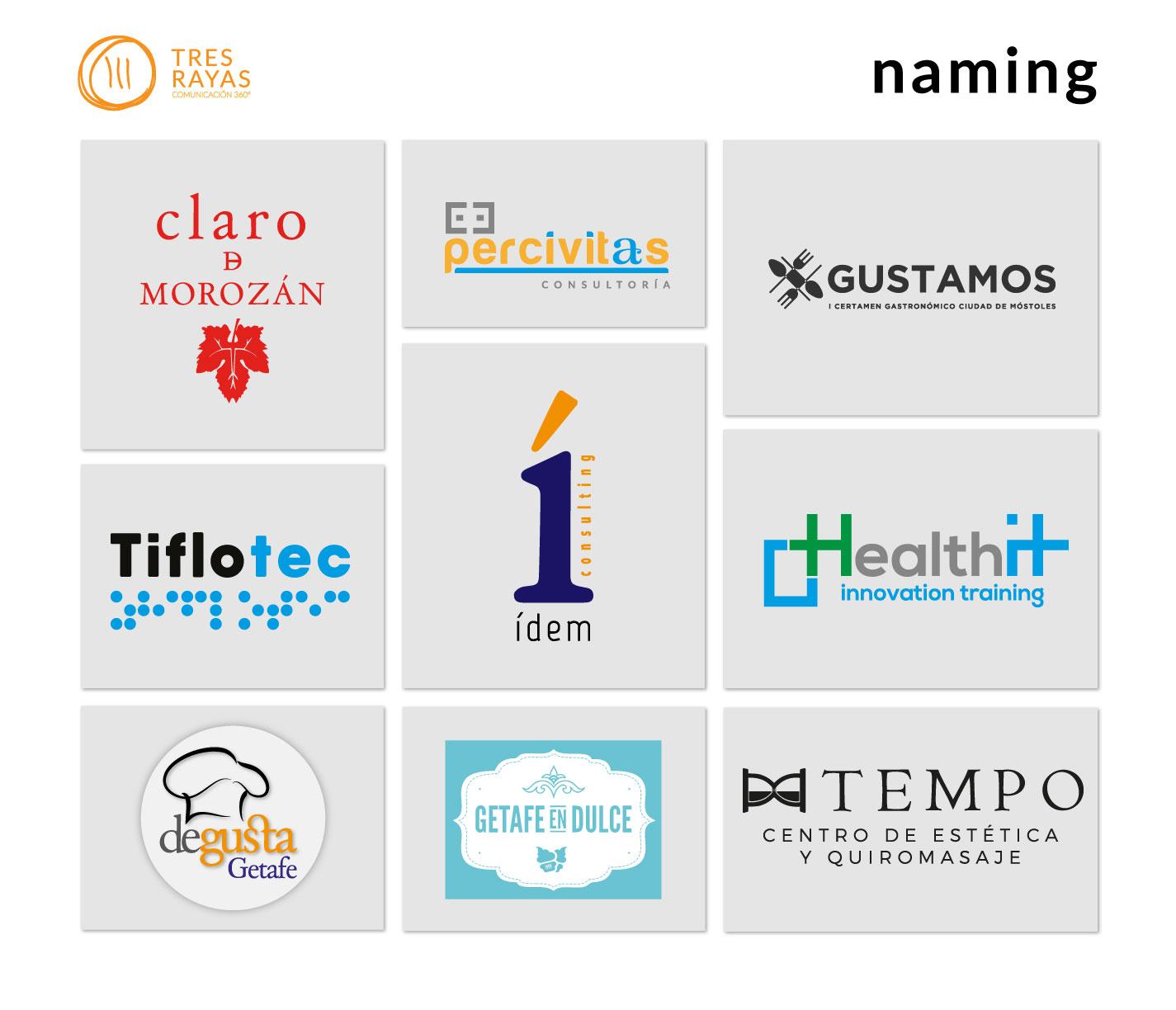 Naming. Ponemos nombre a tu empresa, producto o servicio