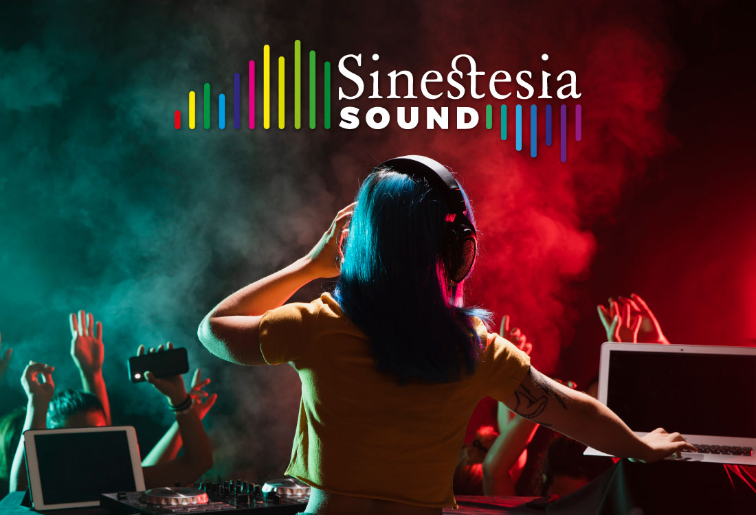 LOGOTIPO SINESTESIA SOUND BY TRES RAYAS